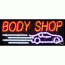Brand New Body Shop 32x13 Withcar Logo Real Neon Sign Withcustom Options 10511
