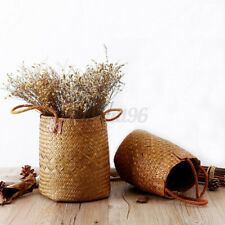 Hand-woven Wood Basket Organizer For Home Kitchen With Handle Durable