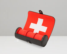 WOLF Navigator Triple Watch Roll - Swiss Flag  Travel Case Free US Shipping