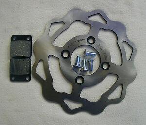 Luxxon 125 Supermoto Bremsscheibe hinten-Bremsscheibenkit mit Beläge+Schrauben