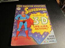 THREE DIMENSION ADVENTURES SUPERMAN 3-D COMIC RARE GOLDEN AGE NO 3-D GLASSES !