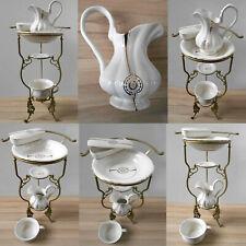 Wunderschöner Waschtisch mit 5-teiligem Keramik Waschset mit Jugendstildekor