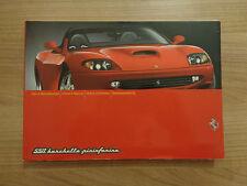 Ferrari 550 Barchetta Pininfarina Owners Handbook/Manual