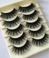5 Prs WISPY False Eyelashes Set ST2 Thick Dramatic Volume UK Strip Lashes MakeUp