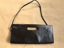BEBE Black Leather Clutch Purse Made in Argentina