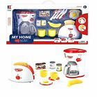 Kitchen Appliances Pretend Set Toy for Kids. Coffee Maker and Toaster with Fo...