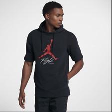 06c0dcab7f2 Air Jordan Fleece Short Sleeve Top # AJ0794 010 Black Red Men Sz M - 2XL