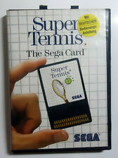 Super Tennis - The Sega Card - boxed no manual - SEGA Master System MS PAL 1986