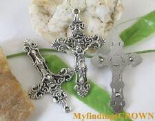 15pcs Tibetan silver crucifix cross charms FC1237