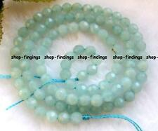 "natural 4mm green amazonite faceted round Beads 15.5""high quality gemstone"