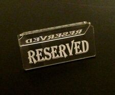 Reserved Table sign , pack of 5 tables signs acrylic engraved