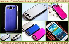 Alu Cover Hard Case Bumper Samsung Galaxy S3 i9300 i9305 Etui Schutz hülle Folie