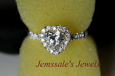 jem: HEART DIAMOND ENGAGEMENT RING in Fine Silver