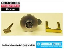 Adrian Steel 28333-0, Push Button Lock Cylinder Assembly & Key for Toolboxes