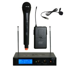 6026VL VHF 2 Channel Wireless Microphone with 1 Handheld & 1 Lapel