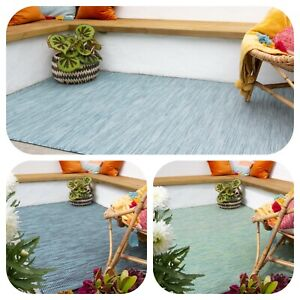 Blue Green Plastic Rugs Indoor Outdoor Patio Area Mats Flatweave Washable Cheap