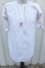 vintage Kleidung Nachtwäsche Omas Nachthemd bestickt Leinen