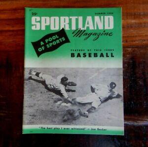 1946 SPORTLAND MAGAZINE NEGRO LEAGUE BASEBALL JACKIE ROBINSON SATCHEL PAIGE ++