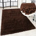 Shaggy Tapis Longues Mèches Super Soft Rio XXL Shaggy Tapis Unicolore Marron