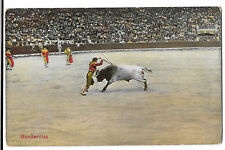 Portugal Banderillas Bullfighting PPC Bilbao 1910 PMK to Sgt Read, 6th Dragoons