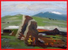 60s ORIG. Painting SOVIET Russian ARMENIAN Artist ARTSRUNYAN Artsrunian Арцрунян