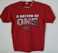 A NATION OF ONE Graphic Tee-Shirt  Size L  Red with Graphics