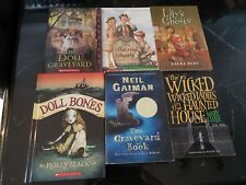 LOT OF 6 GHOSTLY NOVELS, MIDDLE SCHOOL, YOUNG ADULT, CHAPTER BOOKS