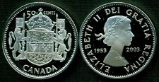 2003 CANADA 1953-2003 50 CENTS CORONATION PROOF SILVER HALF DOLLAR COIN