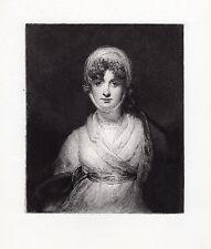 "Thomas LAWRENCE Antique 1800s Etching ""Tragic Muse Mrs Sarah Siddons"" COA"