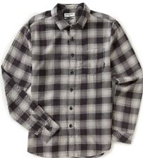 NWT MENS BILLABONG $54 FREEMONT CHARCOAL FLANNEL LONG SLEEVE SHIRT L LARGE NEW