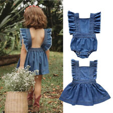 caccd64f30 Big Little Sister Kids Toddler Baby Girls Sister Clothes Jumpsuit Romper  Dresses