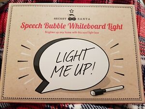 Speech Bubble LED Light Up Box Write Your Own Message Sign Display Party