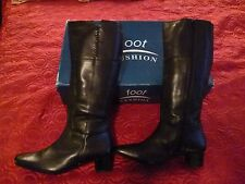 Black Leather Boots By Foot Cushion