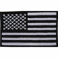 Black USA Flag Embroidered Iron Sew On American Patch America T Shirt Bag Badge