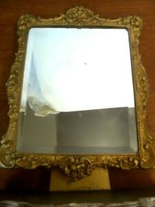 "Peerart Gold ornate antique table mirror ~ 38cm (15"") tall"