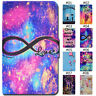 For Samsung Galaxy Tablet Smart Wake/Sleep Card Case Cover PU Leather Stand Skin