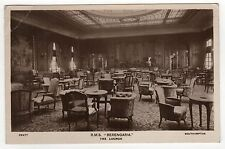 CUNARD LINE RMS BERENGARIA RPPC Real Photo Postcard SHIP Cruise LINER Interior