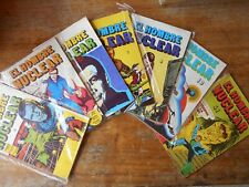 Lot of 7 Comics Editora/GRECO Colombia.:EL HOMBRE NUCLEAR/SIX MILLION DOLLAR MAN