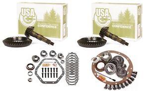 "73-88 GM 10.5"" Chevy 14 Bolt Dana 60 5.13 Ring and Pinion Master USA Gear Pkg"