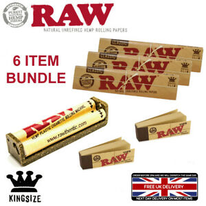 RAW CLASSIC KING SIZE CIGARETTE ROLLING MACHINE 4 BOOKS PAPERS 2 Booklets Tips