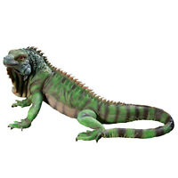 Large Green Iguana Statue Reptile Sculpture Garden Patio Animal Lizard Decor New