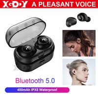 Kopfhorer Bluetooth 5.0 Kopfhörer Kabellos TWS Stereo Sport Wasserdicht Ohrhörer