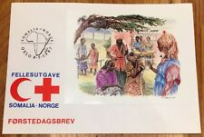 Norway Post FDC 1987.05.08. Red Cross Common Issue with Somalia - Block