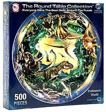 Rare Round Table Puzzle - Prehistoric World - 500 pcs Jigsaw Puzzle - New