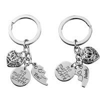 No Matter Where Best Friends Heart Pendant Charms Keyring Keyfob Metal Keychain