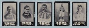 Football Cards - Tabs Type Issue (Ogdens Ltd.) - 5 Cards