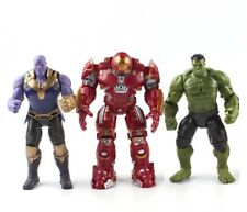 MARVEL - Avengers infinity War set Figuras Acción: Hulk, Thanos, Iron Man 18 cm.
