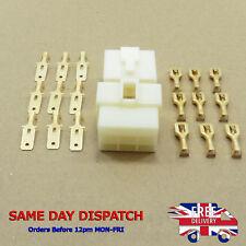6.3mm Pin Spade Plug 9-Way Motorbike Car Terminal Block Connector Electrical Kit