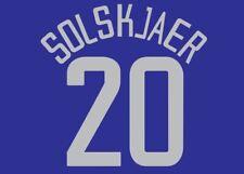 Solskjaer #20 Manchester United 2002-2003 European Away Football Nameset 4 shirt