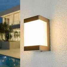 LED Außenwandleuchte Severina Edelstahl Lampenwelt Außenwandlampe Eckig Warmweiß